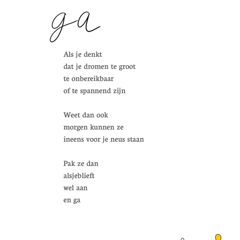 Kaart met gedicht GA