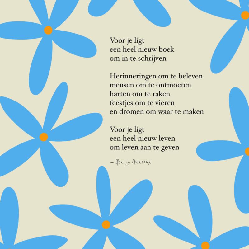 Kaart - Een heel nieuw boek - Geboorte - Berry Awesome
